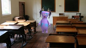A bugbear in a classroom