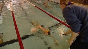 Visually impaired competitive swimming