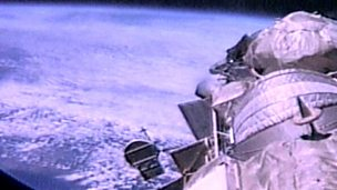 Weightlessness in space