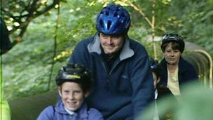 Cycling in an Edinburgh park