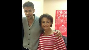 Image for Richard Bacon at home in Mansfield with his mum Christine