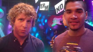 Image for Backstage Buzzcocks: We chat to guests Josh Widdicombe and Louis Smith