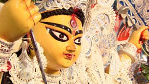 Image for Taking part in the Durga Puja