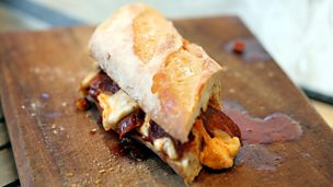 Image for Hot chorizo and mozzarella sandwich
