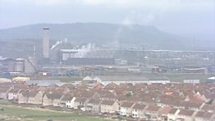 Aerial views of Port Talbot