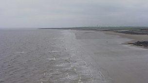 Aerial views over Porthcawl (no narration)