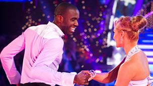 Image for Fabrice Muamba and Aliona Vilani dance the Salsa to 'Christmas Wrapping'