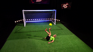 Image for Football freestyler John Farnworth teaches the captains a trick or two in this week's challenge