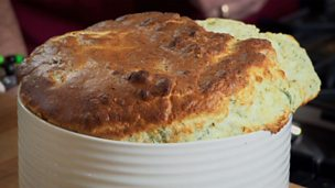 Image for Smoked haddock and potted brown shrimp soufflé