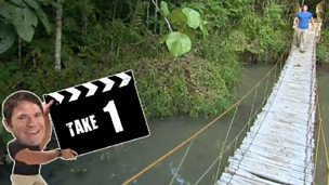 Deadly bloopers - rickety rope bridge