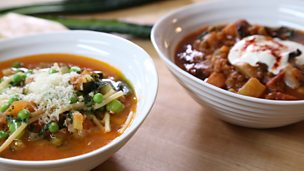 Image for Summer and winter vegetable soups
