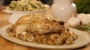 Image for Chicken with forty cloves of garlic served with colcannon