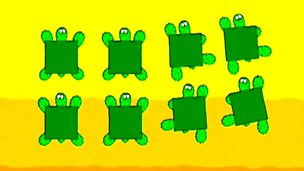 Multiplication with square turtles