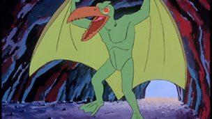 A green pterodactyl