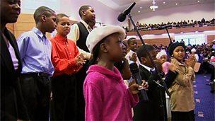 Worship in a Christian church