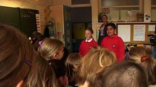 English children visit a French school (pt 4/4)