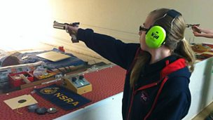 Image for Megan Gilkes, member of the GB Junior Pistol Shooting squad.