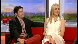 Image for Behind Bars: Jason Biggs and Taylor Schilling explain why orange is the new black