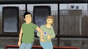 PSHE for SEN - Inappropriate touching of strangers at the bus stop