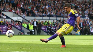 Image for Swansea's Pablo Hernandez scores against West Brom