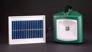 Image for Solar-powered lamp and charger