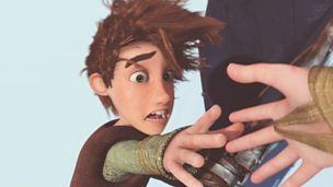 Hiccup reaching for Astrid's hand