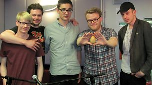 Image for Alt-J play live on the show, Swim Deep in session
