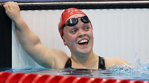 Ellie Simmonds in a swimming pool