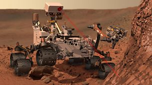 Image for Nasa's Curiosity robot lands on Mars