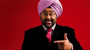 Image for Hardeep Singh Kohli sits in