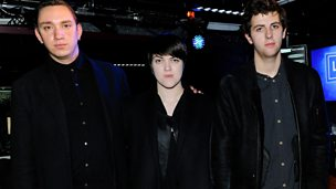 Image for Monday: The xx in the Live Lounge