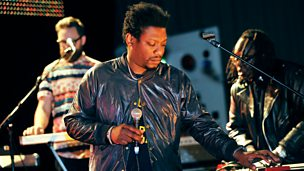 Image for Roots Manuva with The Invisible in session for Huey