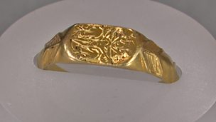 Image for Gold devotional ring