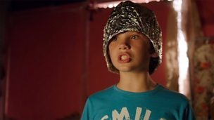 Charlie in a tin foil hat