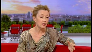 Image for Lesley Manville on stage with Ibsen's Ghosts