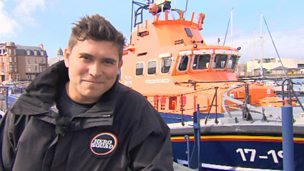 Rav Wilding and the RNLI Lifeboat