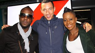 Image for Bunji Garlin and Fay-Ann Lyons in the studio with Nick Bright