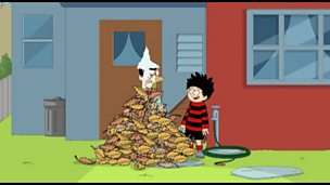 Dennis and Gnasher laughing.