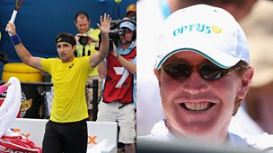 Image for Player v coach row at Australian Open