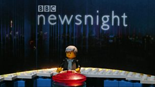 Image for Newsnight gets a LEGO makeover