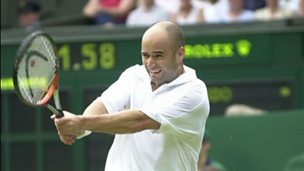 Image for Agassi: Today's era is the best