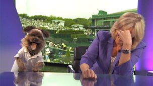 Hacker and Sue Barker.