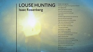 'Louse Hunting' by Isaac Rosenberg (poem only)