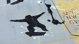 Banksy-style stencilling