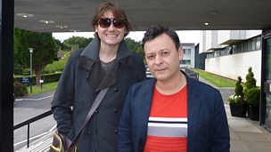 Nicky Wire and James Dean Bradfield of Manic Street Preachers