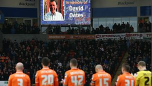 Blackpool FC pay tribute to David Oates