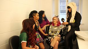 Behind the scenes with Little Mix