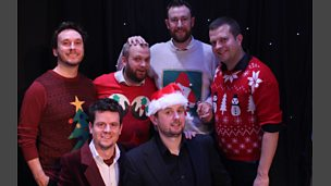 Backstage at Alex Horne Presents the Horne Section New Year.