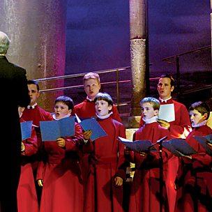 Christus vincit for chorus with soprano solo