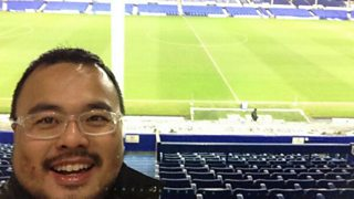 Lifelong Everton fan who flew from Malaysia for first game which was cancelled